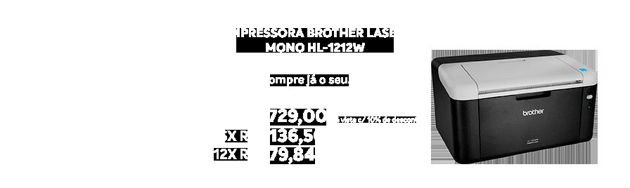 Impressora Brother Laser Mono Hl-1212w - https://www.multimidia.inf.br/produto/impressora_brother_laser_mono_hl-1212w/14731