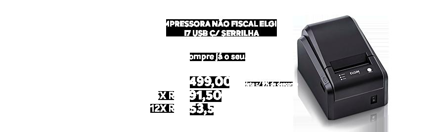 Impressora Nao Fiscal Elgin I7 Usb Com Serrilha - https://www.multimidia.inf.br/produto/impressora_nao_fiscal_elgin_i7_usb_com_serrilha/15930