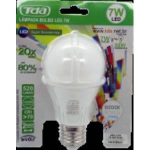 Lampada Led 7w Bulbo E27 Bivolt 520lm - Irc70 - 30