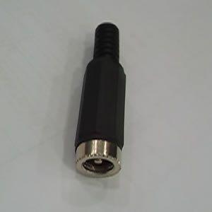 Conector Plug  dc 2,1 x 5,5mm Tozz  Preto