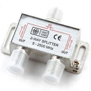 Conector Divisor Spliter 2 Saidas Jack-f 5-2500mhz