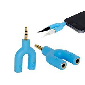 Adaptador de Audio p3 m x 2 p2 f Ad0322az Azul