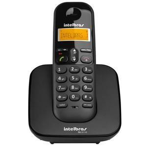 Telefone Intelbras S/fio Digital Ts3110 C/id Preto