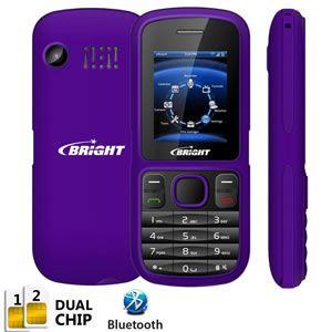 Celular Bright One Dual Chip Roxo 0417