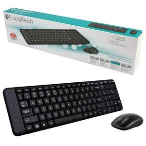 Conj. Tecl Mouse Wi-fi Logitech Mk220 Preto