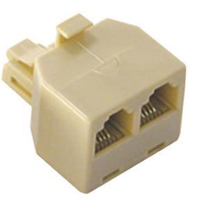 Conector Plug  Rj11 Macho   2 rj 11 Femea