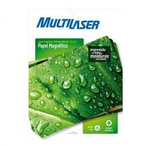 Papel Magnetico 10 x 15 10fls Multilaser Pe008