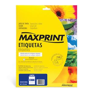 Etiqueta Adesiva Maxprint A4354 25,4x99 100f