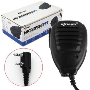 Microfone Ppt p/ Radio Comunicador 50mw Knup Kp-91