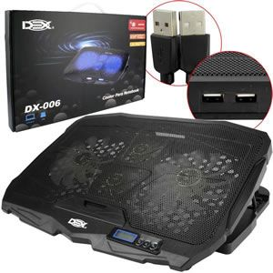 Base P/notebook C/cooler 17 Dex Dx-006 Sup0054