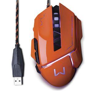 Mouse Gamer Warrior 3200dpi Multilaser Mo263 Laran