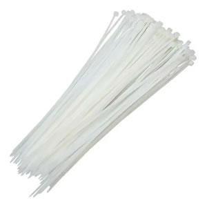 Abracadeira de Nylon 100 un 200 x 3,5mm Branca