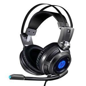 Fone c/ Microfone hp Gamer p2 Usb H200 Led Chumbo