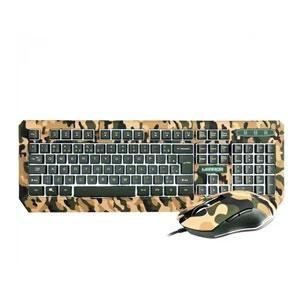 Conj. Tecl Mouse Gamer Warrior Kyler Army Tc249