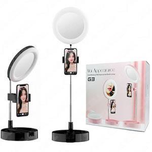 Iluminador Ringlight 16cm c/ Espelho e Suporte Cel