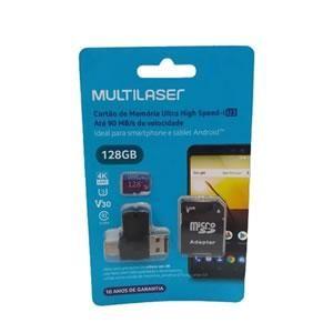 Pendrive 128gb  Multilaser 4x1 Micro sd Cl10 Mc153