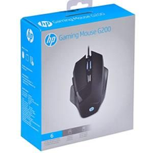 Mouse Gamer hp G200 4000 Dpi Led Preto