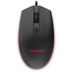 Mouse Gamer Multilaser 2400 Dpi Led 7 Cores Mo298