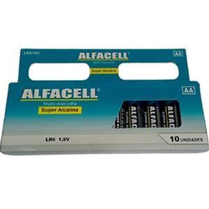 Pilha Super Alcalina C/10 aa Alfacell Lr6