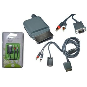Cabo Video p/ Xbox 360 Video Vga e Audio Rca Cb000