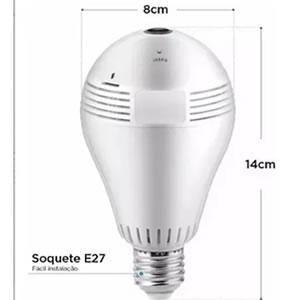 Camera ip Wireless Lampada 360º