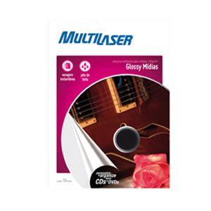 Papel Adesivo Cd/dvd 10fls Multilaser Pe004