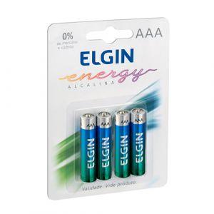 Pilha Alcalina C/4 Aaa Elgin Lr03 82155