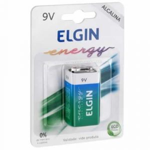 Bateria 9v Alcalina  Elgin 6lr61