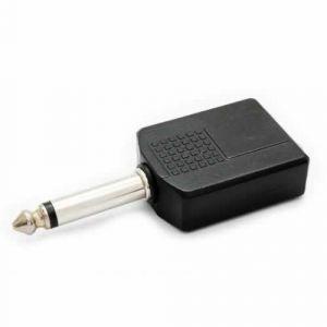 Conector Plug 2 P10 f x P10 m Mono