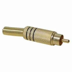 Conector Plug Rca Metal Ponta Ouro